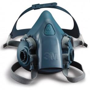 Demi masque en silicone à deux filtres 7502 3M