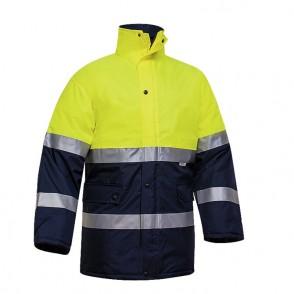 Manteau bicolore HV à doublure polaire - classe 2