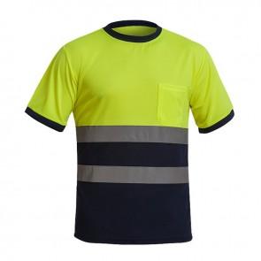 Camiseta de manga corta de Alta Visibilidad combinado de Clase 1