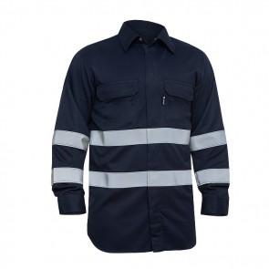 Camisa ignífuga sareco con protección de alta visibilidad