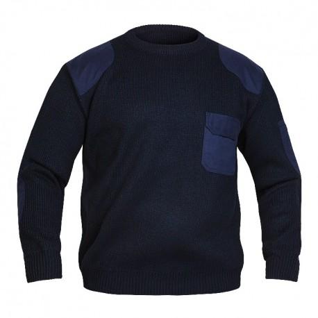Pull tricoté avec renforts